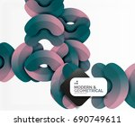 abstract color geometric round... | Shutterstock .eps vector #690749611