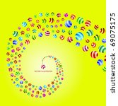 abstract background with circle ... | Shutterstock .eps vector #69075175