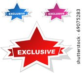 exclusive vector stickers. | Shutterstock .eps vector #69075283