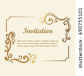 vector decorative element for... | Shutterstock .eps vector #690755101
