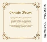 vector decorative element for... | Shutterstock .eps vector #690755125