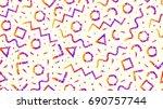 memphis seamless pattern | Shutterstock . vector #690757744