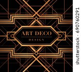 the great gatsby deco style... | Shutterstock .eps vector #690760291