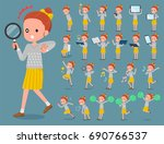 a set of girl with digital... | Shutterstock .eps vector #690766537