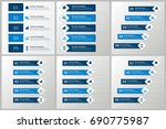 infographics template set   Shutterstock .eps vector #690775987