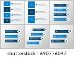 infographics template set | Shutterstock .eps vector #690776047