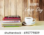 labor day is a federal holiday... | Shutterstock . vector #690779809