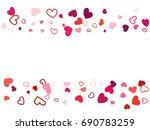 wedding background  invitation...   Shutterstock .eps vector #690783259