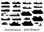 vector set of different ships ... | Shutterstock .eps vector #690784819