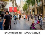 Small photo of Shenzhen, China - 14 April 2017: Dongmen shopping street. Dongmen is a shopping area and subdistrict within Luohu District of Shenzhen.