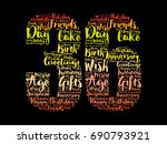 happy 36th birthday word cloud... | Shutterstock .eps vector #690793921