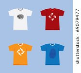 color t shirts with symbols on... | Shutterstock .eps vector #69079477
