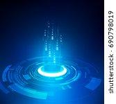 vector abstract futuristic... | Shutterstock .eps vector #690798019