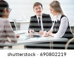young business people... | Shutterstock . vector #690802219