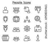 people icons set in thin line... | Shutterstock .eps vector #690803461