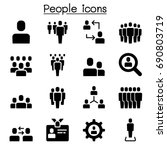people icon in flat style | Shutterstock .eps vector #690803719