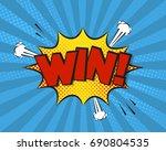 win comic pop art background ... | Shutterstock .eps vector #690804535
