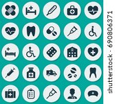 medicine icons set. collection... | Shutterstock .eps vector #690806371