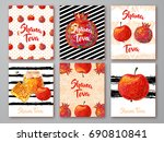set of greeting cards with... | Shutterstock .eps vector #690810841