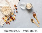 organic food background  top... | Shutterstock . vector #690818041