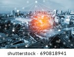 modern and wireless sensor...   Shutterstock . vector #690818941