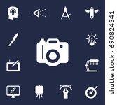 Set Of 13 Creative Icons Set...