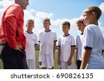 portrait of young football... | Shutterstock . vector #690826135