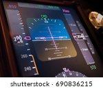 close up primary flight... | Shutterstock . vector #690836215