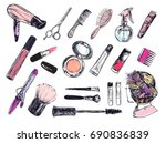 beauty store background with... | Shutterstock . vector #690836839