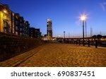 swansea marina's meridian tower ...   Shutterstock . vector #690837451