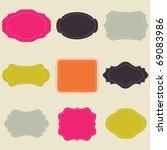 set of bright frames | Shutterstock .eps vector #69083986