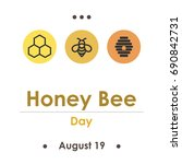 vector illustration for honey... | Shutterstock .eps vector #690842731