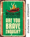 mexican food restaurant sign...   Shutterstock .eps vector #690846499