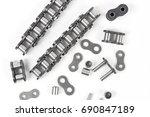 details of industrial driving... | Shutterstock . vector #690847189