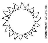 hot sun icon. outline...   Shutterstock . vector #690848401