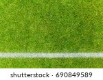 top view of white stripe on... | Shutterstock . vector #690849589