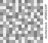 gray squares of different... | Shutterstock . vector #690852109