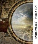 beautiful background in steam...   Shutterstock . vector #69085414