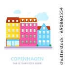 concept for city guide.... | Shutterstock .eps vector #690860554