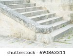 stone old ancient empty... | Shutterstock . vector #690863311