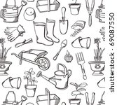 vintage garden | Shutterstock .eps vector #69087550