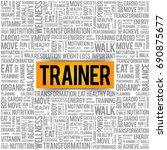 trainer word cloud background ... | Shutterstock .eps vector #690875677