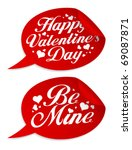 happy valentine s day stickers... | Shutterstock .eps vector #69087871