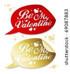 be my valentine stickers in...   Shutterstock .eps vector #69087883