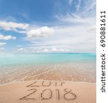 new year 2018 is coming concept.... | Shutterstock . vector #690881611