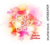 rakhi for indian festival... | Shutterstock .eps vector #690883909