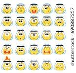 set of arabic khaliji ... | Shutterstock .eps vector #690887257