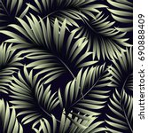 tropical palm leaves  jungle... | Shutterstock .eps vector #690888409