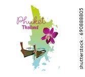 phuket island map in thailand | Shutterstock .eps vector #690888805