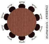 Round Table And Chairs  Top...